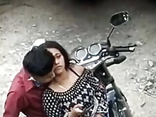 Look at hot Indian girl fucking bf in public anal
