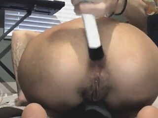 Look at Extreme Beer Bottle Anal And Vaginal Insertion For Skinny In amateur